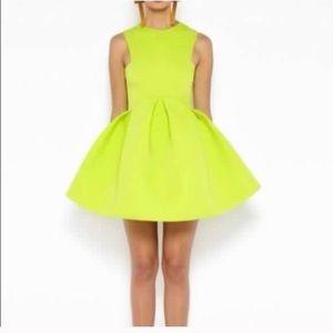 NWT! ASOS lime yellow scuba dress